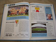 FOOTBALL COUPURE LIVRE PHOTO MRBT25 20x10 D1 RACING CLUB LENS 1988/1989