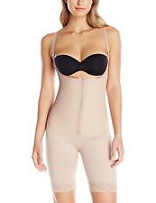Squeem Women's Sensual Curves Firm Compression Body Suit, Beige, Medium