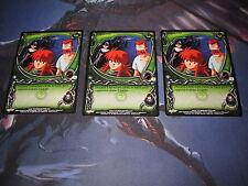 3x Yu Yu Hakusho TCG Huh??? Common Cards Gateway 1st Edition C56 Playset