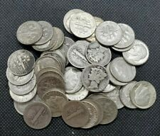 1 Roll (50 Coins) 90% Silver Mercury & Roosevelt Dimes | AVERAGE CIRCULATED