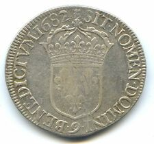 LOUIS XIV ECU A LA CRAVATE 1er TYPE 1682 RENNES !!!!!!