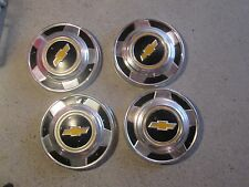 Vintage 1960's 70's Lot of 4 Chevy Pickup Dog Dish Hub Caps