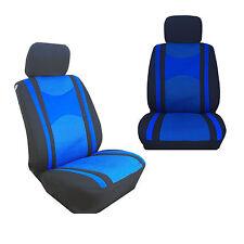 Mesh 4 Pcs Low Back Blue & Black Seat Covers for Auto Cars SUVS - Front Pair