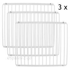 3 X Refrigerator Shelf for Logik Fridge Plastic Coated Adjustable Rack