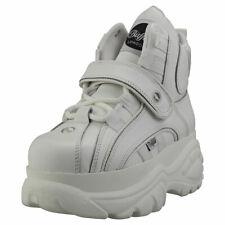 Buffalo London 1348-14 2.0 Womens White Leather Platform Boots