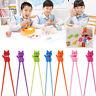 Kids Children Training Beginner Chopsticks Tool Cat Rubber Education Learning
