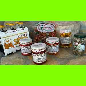 Products Calabresi Nduja Garlic Soda Pop Olives Capers Bruschetta Confectionery