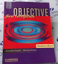 OBJECTIVE FIRST CERTIFICATE STUDENT' S BOOK - A.CAPEL W.SHARP - CAMBRIDGE