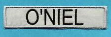 "OUTLAND Embroidered Name Tag Iron-On Patch - "" O'NIEL """