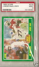 1989 SCORE  PSA 9 MINT GREAT COMBOS MONTANA/RICE # 279