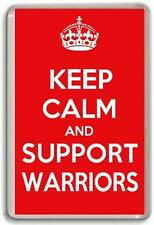 KEEP CALM AND SUPPORT WARRIORS, WIGAN WARRIORS RUGBY LEAGUE TEAM Fridge Magnet