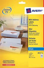 Avery J8651-25 White Inkjet Labels 65 Per Sheet 38.1x21.2mm 25 Sheet Pack