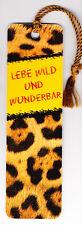 """Lesezeichen arsEdition - """"Lebe wild und wunderbar"""""""