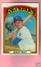 1972 TOPPS BASEBALL #109 JERRY MAY NMT++