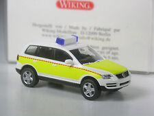 kleine Auflage: Wiking VW Touareg Rettungswagen Ausland gelb in OVP
