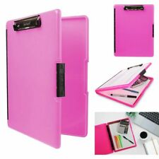 Slimcase Clipboard 2 Storage With Side Opening Resistant Neon Pink A4 Paper Size