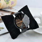 Fashion Date Dial Leather Stainless Steel Analog Quartz Wrist Watch high quality