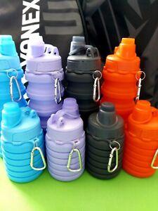 Trinkflasche Faltbare Silikon Reiseflasche Sport Tourist Radfahrer Wochenende