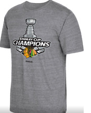 NHL Reebok Chicago Blackhawks 2015 Stanley Cup Champions Shirt New Mens MEDIUM