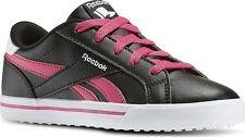 Reebok Royal Comp 2L Girls UK 12 EU 30 Black Rose White Lace Sneaker Trainers