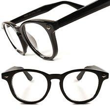Cool Vintage Retro Nerd Geek Look Mens Womens Clear Lens Eye Glasses Black Frame