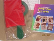 One Hand Zippered Change Bag w/BOOK - Stage/Kids Magic Trick Prop Vanish/Appear