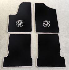 Autoteppich Fußmatten für Fiat Seicento u. Abarth 1998-10 schwarz silber Velours
