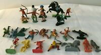 Lot of Various Plastic Toy Soldiers Cowboys Indians Bandits Medieval Space etc