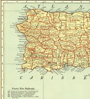 1943 Antique Puerto Rico Map Large Map of Puerto Rico Poster Size 8620
