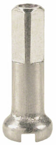DT Swiss Standard Spoke Nipples - Brass, 2.0 x 16mm, Silver, Box of 100