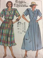 1987 Simplicity 8062 Vintage Sewing Pattern Womens Two-Piece Dress Size 12