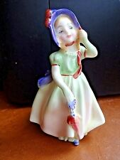 Royal Doulton Babie Figurine Pink and Green Dress with Umbrella HN 1679