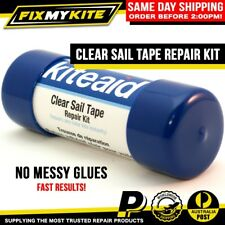 KITEAID CLEAR SAIL TAPE TEAR REPAIR KIT - INVISIBLE KITE AID FIX CANOPY SAIL
