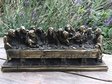 VINTAGE THE LAST SUPPER BY A GIANNETTI PLASTER AND GILT.
