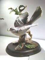"2003 Homco Home Interiors #12150-03 ""Stately Mockingbird"" Figurine W/Wood Base"