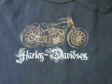 Womens Sleeveless Harley Davidson Black Gold Top Shirt Size 2X Tank EUC Vintage
