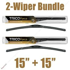 "2-Wipers: 15"" + 15"" Trico Force All-Season Beam Wiper Blades -- 25-150 x2"