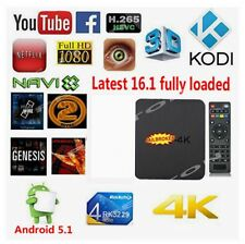 4K Quad Core MXQ TV BOX Android 5.1 Latest KODI 16.1 HD 1080P WIFI Media Player