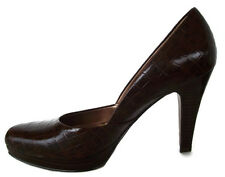 Carlos by Carlos Santana Crank Womens Brown Heels Sexy Reptile Print Shoes 7M