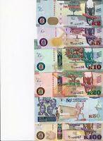 ZAMBIA 2, 5, 10, 20, 50, 100 KWACHA 2015 P-49-54-NEW UNC FULL SET OF 6