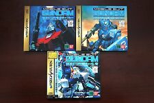 Sega Saturn Mobile Suit Gundam Side Story 1 2 3 Japan import SS game US Seller