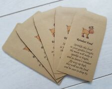 5 empty envelopes for you to add your own magic reindeer food Christmas eve box