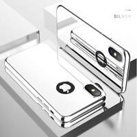 Coque Intégrale pour Apple iPhone X ( iPhone 10 ) Miroir Argent + Vitre Verre T