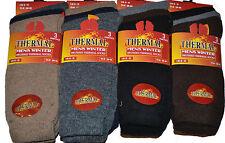 12 Mens Thermal Socks Ski Winter Hold Heat Warm Outdoor Work Boot Work Socks Lot
