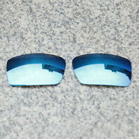 RAWD Sky Blue Mirrored Replacement Lenses for-Oakley Gascan Sunglasses POLARIZED