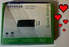 🔥 NEWNetgear N150 Wireless WiFi USB Network Adapter FAST SHIP L👀K ⬇️🙂⬇️