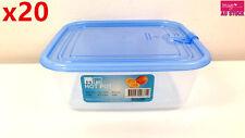 20x Plastic Fresh Food Box Food Storage w/ Lid 680ml Home Motel Restaurant 3712
