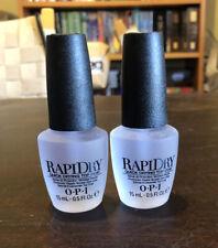 Opi Rapidry Nail Treatment Top Coat 0.5oz/15ml High Gloss Lot Of #2 #630912