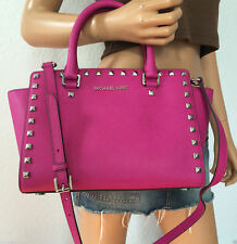0c60b9d18d1 Espiga de Michael Kors Selma Bolso bolso bolso color de rosa fucsia  Saffiano Cuero   Nuevo Con Etiquetas