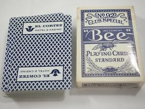 Vintage El Cortez Hotel & Casino Las Vegas Blue Playing Cards in original box